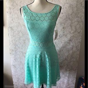 Trixxi Lace Mint Green Dress D66